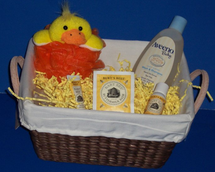Bathtime for Baby Gift Basket with Sunsuit