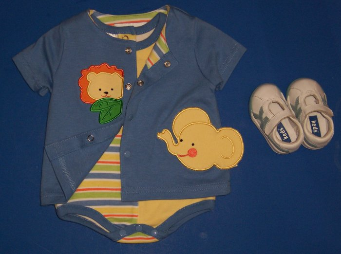 3-Piece Outfit with Keds Tennis Shoes Newborn 0 to 3 Months