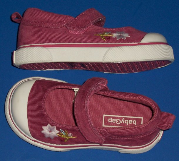 BABY GAP CORDUROY MARY JANE SHOE LITTLE GIRLS SIZE 7