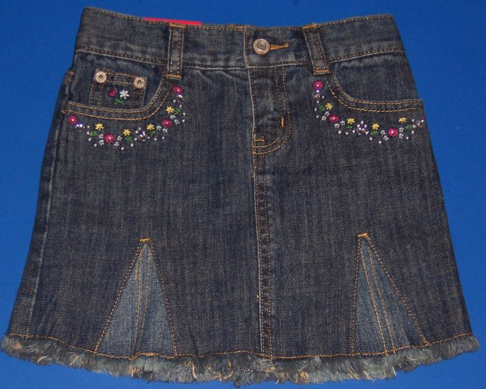 Gap Kids Stretch Denim Skirt Adjustable Waist Girls Size 4