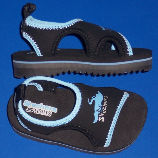 "Skechers Light-Up Little Boys Size 10 Sandals ""Sea Friends"""