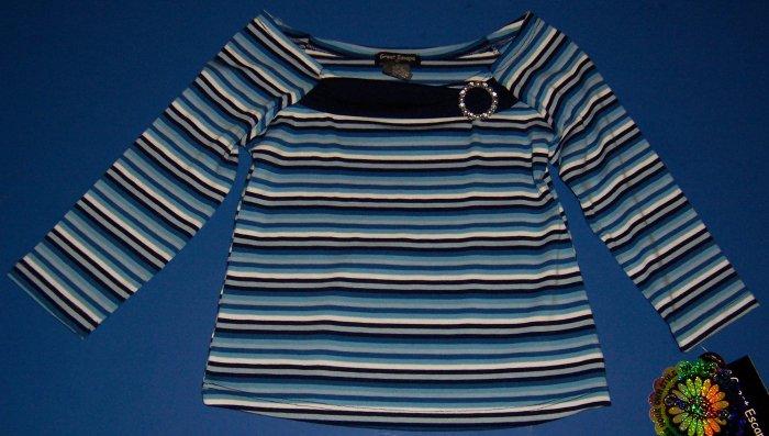 Great Escape Shirt Rhinestone Brooch Girls Size S 7 8