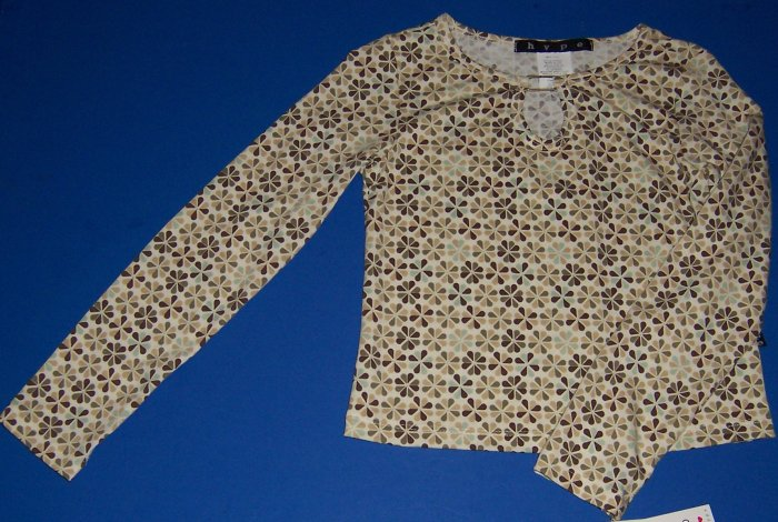 Hype Retro Floral Print Shirt Girls Size Medium 10