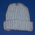 Hand-Crocheted Blue Cap Newborn Boy 0 to 3 Months