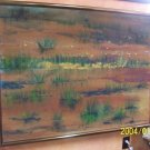 Impressionist, representational painting on linen