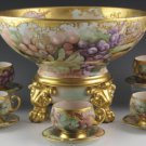 JEAN POUYAT T&V LIMOGES PUNCH SET