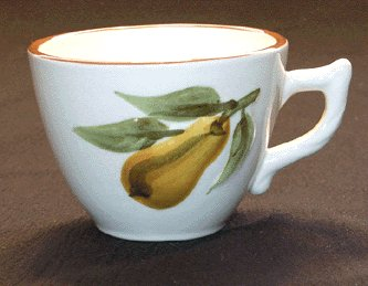 STANGL Sculptured Fruit CUP Hand Painted BEAUTIFUL