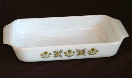 Vintage FIRE KING Anchor Hocking CASSEROLE Meadow Green