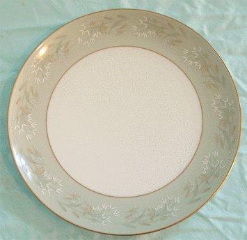 Vintage NORITAKE MODERNE 5921 gold rimmed DINNER plate