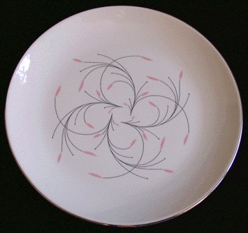 HOMER LAUGHLIN Rhythm DINNER PLATE Capri 1960