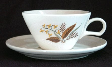 HOMER LAUGHLIN Cunningham & Pickett VOGUE Cup & Saucer