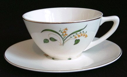 Vintage 1950s KNOWLES Forsythia CUP & SAUCER