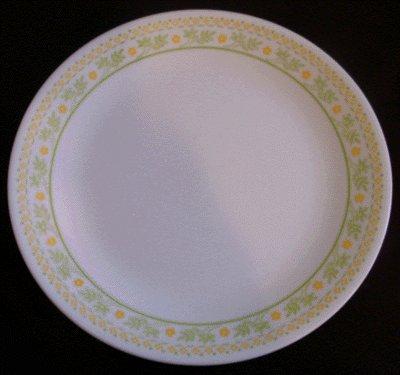 CORELLE Milk Glass DINNER PLATE Sunshine