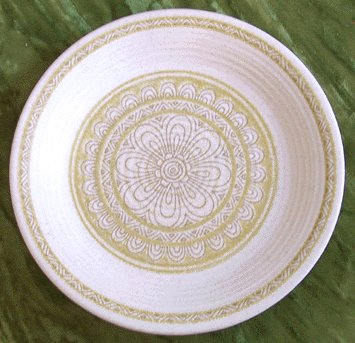 Vintage China FRANCISCAN Hacienda Green BREAD PLATE