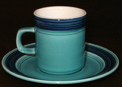 Vintage MIKASA Terra Stone AZURE Cup & Saucer JAPAN
