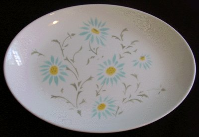 HOMER LAUGHLIN Serenade Shape BLUE ASTER Oval Platter