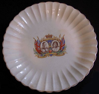 SOVEREIGN POTTERS 1937 Coronation Plate KING GEORGE VI
