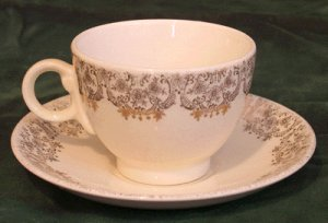 TAYLOR SMITH &amp; TAYLOR Cup &amp; Saucer LAUREL/DIANA -B