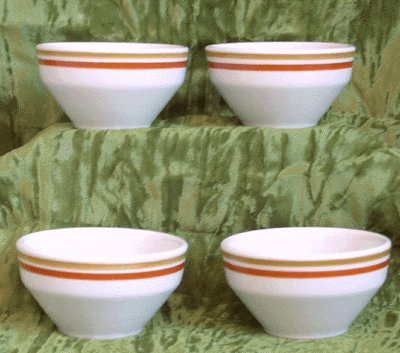 JACKSON Custard Cup SET OF 4 CUPS Restaurant Ware