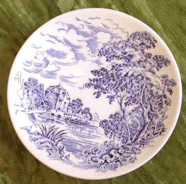 WEDGWOOD Saucer COUNTRYSIDE Blue
