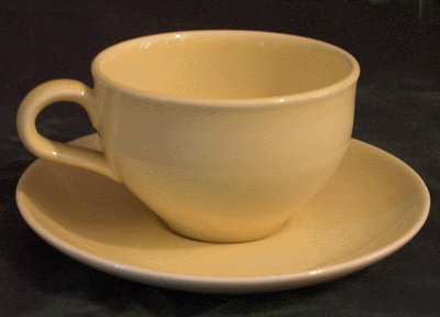 IROQUOIS Casual RUSSEL WRIGHT Lemon Yellow CUP and SAUCER