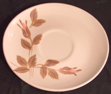RED WING POTTERIES Rose FUTURA SHAPE Mod SAUCER 2