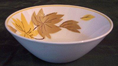 Vintage Dishes MIKASA Ivy Lea 2007 MOD Leaf BERRY BOWL -B