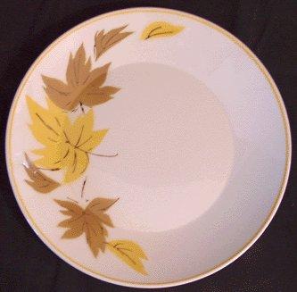 Vintage MIKASA Ivy Lea 2007 MOD Leaf SALAD PLATE - A
