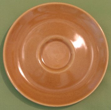 IROQUOIS CASUAL Russel Wright RIPE APRICOT Saucer -A