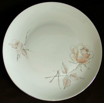 JAEGER & CO Salad Plate NOCTURNE Rose BAVARIA