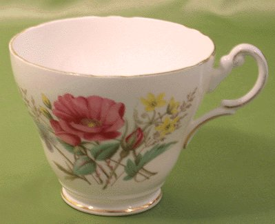 Regency Bone China Cup ROSE FLORAL England ENGLISH