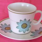 NORITAKE PROGRESSION Upsa-Daisy CUP and SAUCER