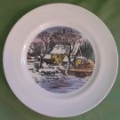 VINTAGE DISHES Decorative Plate DELANO STUDIOS Currier and Ives FROZEN UP 1951 Edition