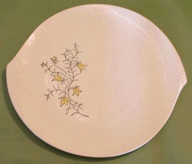 Blue Ridge Southern Potteries Golden Bells Platter Mod