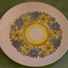 VINTAGE DINNER PLATE Royal China ASTRA Yellow/Blue Floral