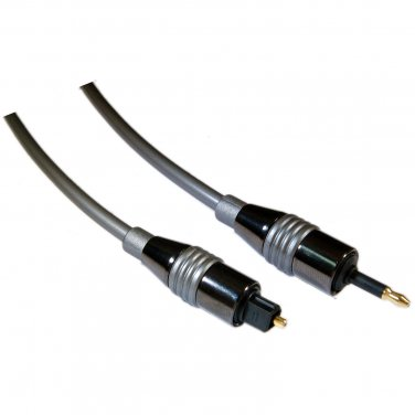6 ft High Quality Digital Fiber Optic Audio Toslink to 3.5mm Optical Cable - 5.0mm 10T3-PF06