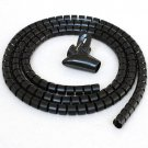 5ft Split Loom Cable Wrap, Black, 20mm diameter, Cable Management Wraps with Tool