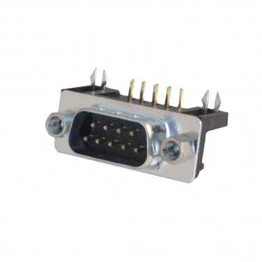 DB9 Male Right Angle Connector, Solder Type 3530-11009