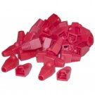 RJ45 Strain Relief Boots, Red, 50 Pieces Per Bag  SR-8P8C-RD