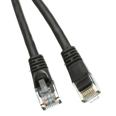 35ft Cat5e Black Ethernet Patch Cable, Snagless/Molded Boot 10X6-02235