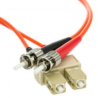 SCST-11101 Fiber Optic Cable, SC / ST, Multimode, Duplex, 62.5/125, 1 meter (3.3 foot)