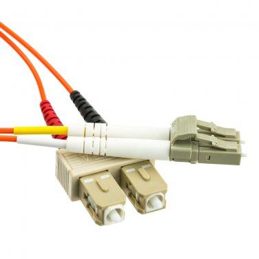 16.5ft Fiber Optic Cable, LC / SC, Multimode, Duplex, 62.5/125, 5 meter  LCSC-11105