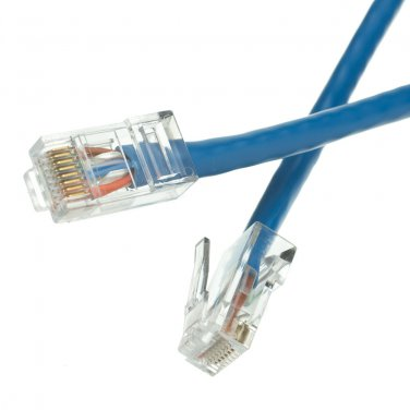 Cat5e Blue Ethernet Patch Cable, Bootless, 100 foot