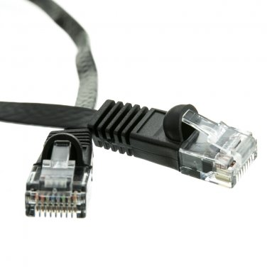 1ft Cat6 Black Flat Ethernet Patch Cable  10X8-62201