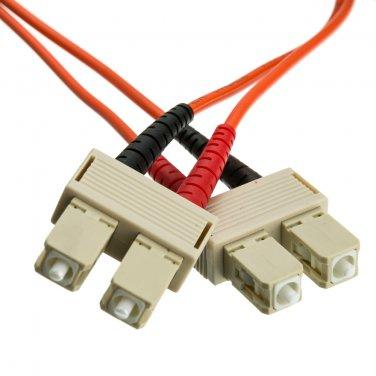 Fiber Optic Cable, SC / SC, Multimode, Duplex, 62.5/125, 1 meter (3.3 foot)