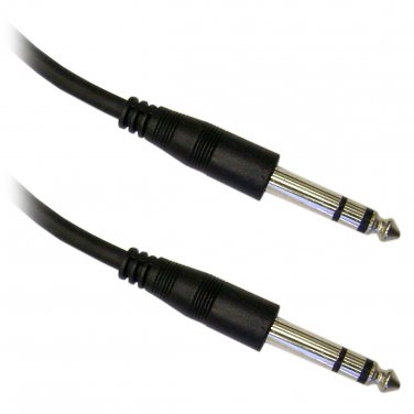 1/4 inch Stereo Audio Patch Cable, 1/4 Male, 15 foot