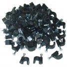 RG6 Cable Clip, Black (100 pieces per bag) 200-960BK