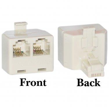 Phone Splitter (Straight), RJ11 6P4C Male to 2 RJ11 6P4C Female PA-6P4C-ST