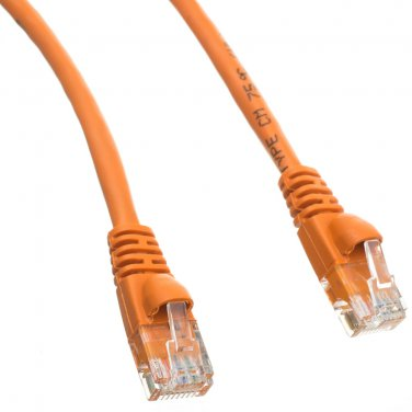 Cat6 Orange Ethernet Patch Cable, Snagless/Molded Boot, 7 foot