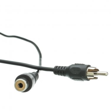 12FT RCA Audio / Video Extension Cable, RCA Male to RCA Female 10R1-01212
